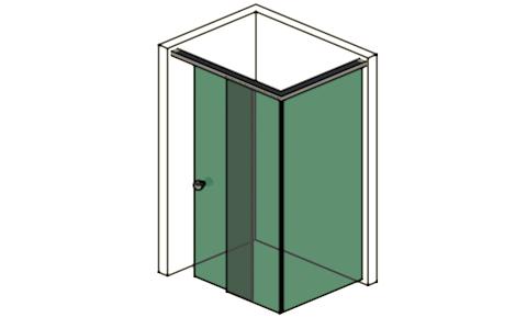 ihre dusche mit schiebet r am eckteil glas design berlin. Black Bedroom Furniture Sets. Home Design Ideas