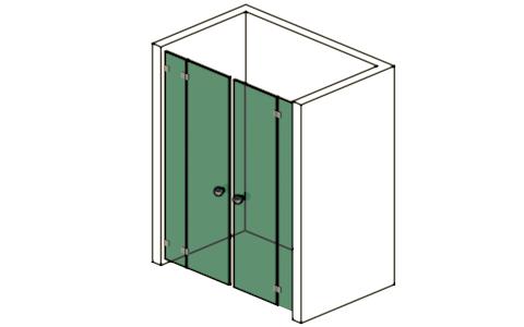 doppelt r zwischen seitenteilen glas design berlin. Black Bedroom Furniture Sets. Home Design Ideas